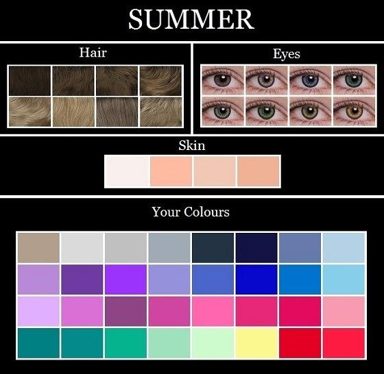 Cool Summer Color Palette Skin Tone